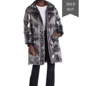 Alice and oliva Silver Full Length Puffer Jacket